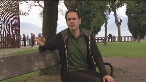Martín Barriuso durante una entrevista