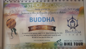 Certificación de Esponsorización de Buddha Seeds