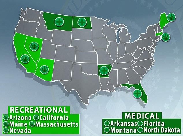 Estados legalizaron marihuana